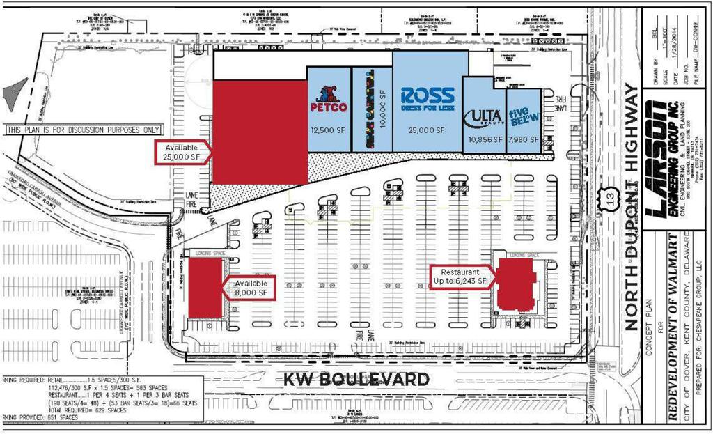 Dover DE: Dover Towne Center - Retail Space For Lease ...