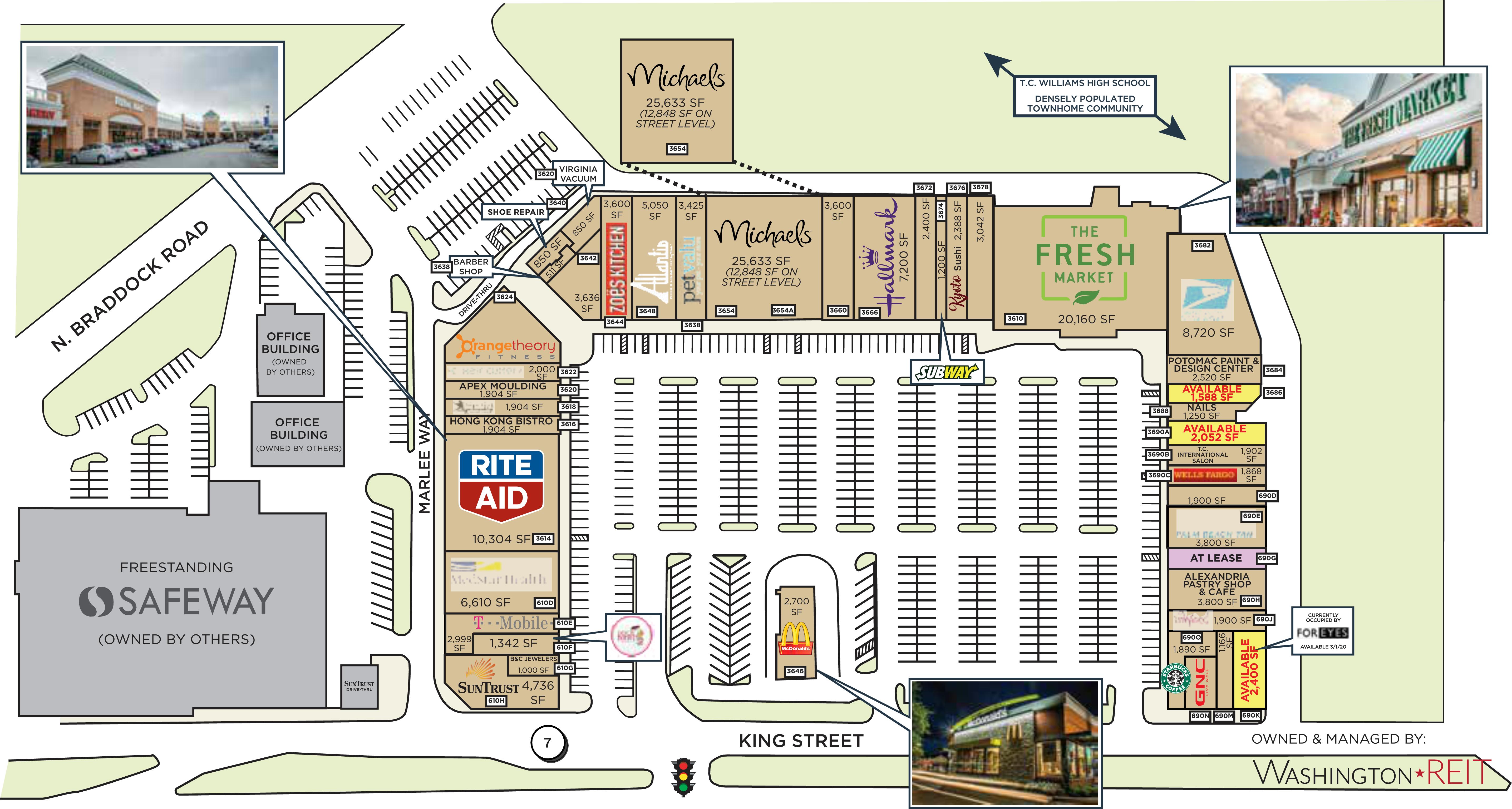 Alexandria Va Bradlee Shopping Center Retail Space For